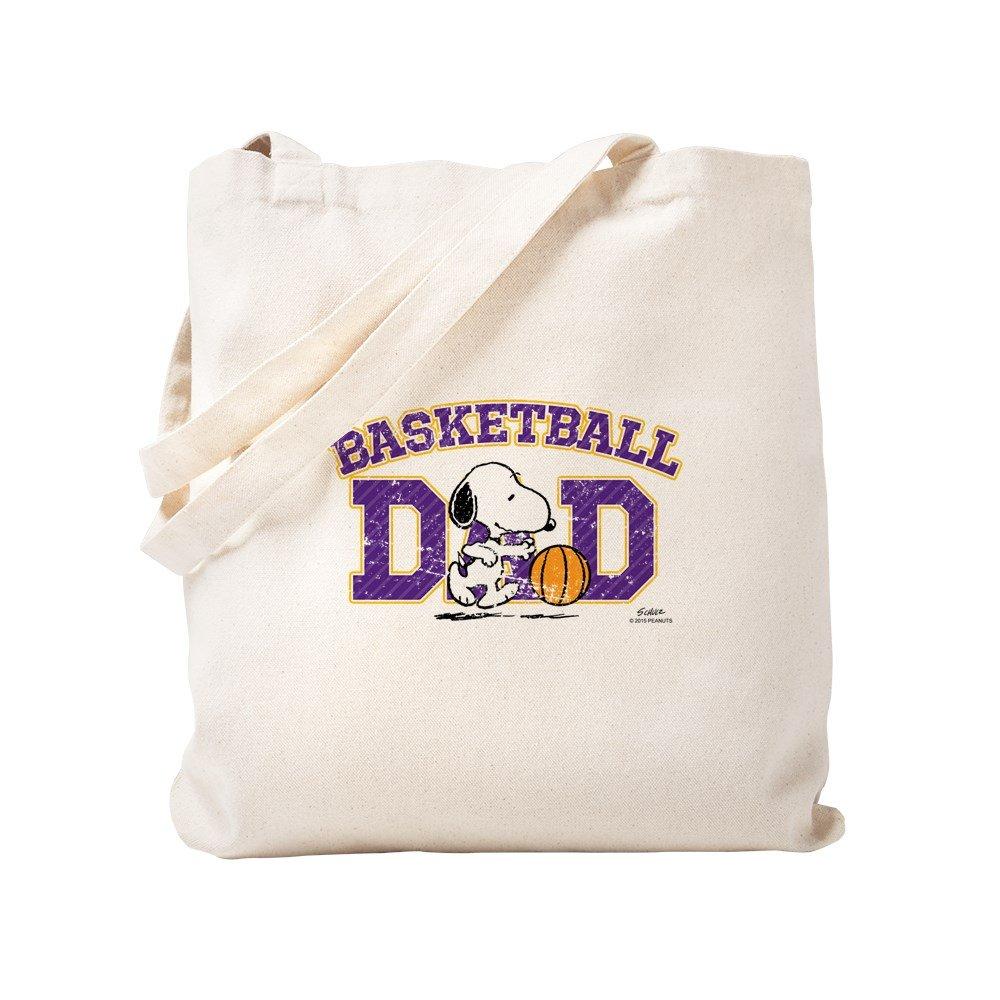 CafePress – スヌーピーBasketball Dad – ナチュラルキャンバストートバッグ、布ショッピングバッグ S ベージュ 1594384523DECC2 B0773QP2XC  S
