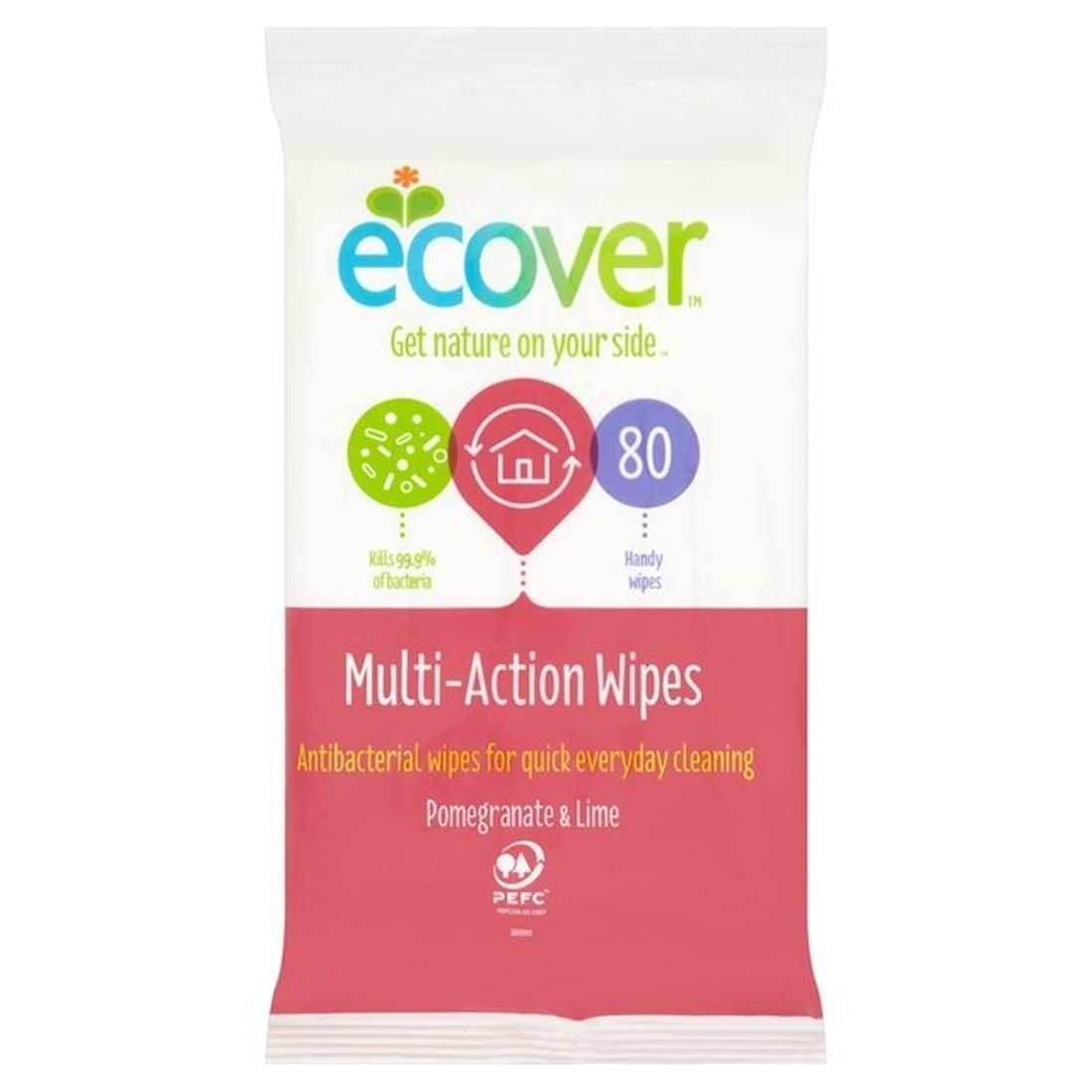 Antibacterial Wipes 80 wipes Ecover