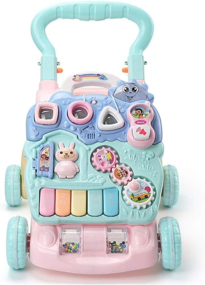 ZzheHou Triciclo para niños Juguete For Niños Pequeños De Pie For Aprendizaje De Bebé De Pie For Niños Pequeños con Control Remoto, Música, Instrumento Desmontable Triciclo para niños Plegables
