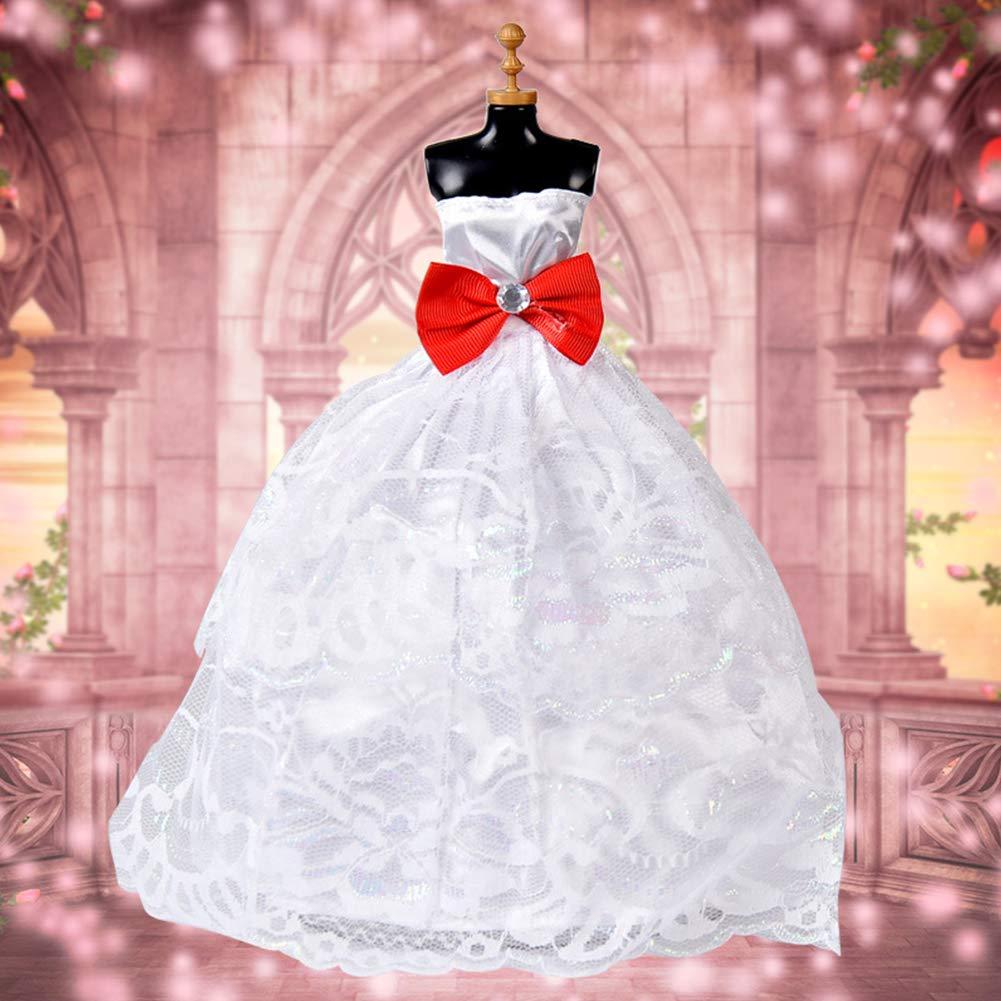 Amazon.es: Ocamo Vestido de Novia de la muñeca Ropa Conjunto Formal ...