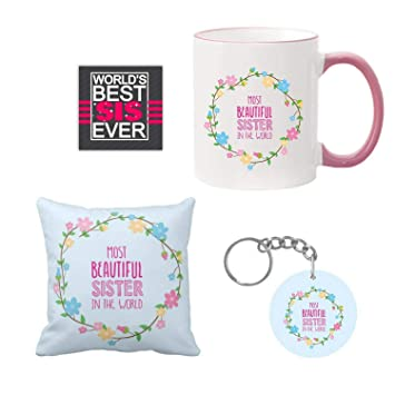 Giftsmate Birthday Gifts For Sister Combo Most Beautiful Mug Hamper With