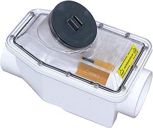 Canplas 223254WPK1 PVC Fullport Backwater Valve, 4-Inch