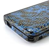 GAMETECH 3DS XL Hard Cover -Crocodile skin pattern- Blue