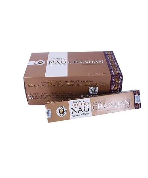 3 opinioni per BASTONCINI D'INCENSO Golden Nag Chandan Fragranza legno di sandalo- Confezione