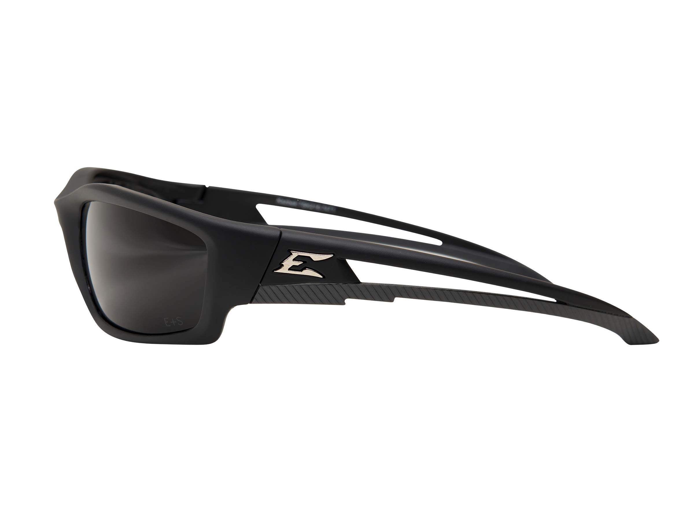 Edge Eyewear TSK216 Kazbek Polarized Safety Glasses, Black with Smoke Lens by Edge Eyewear