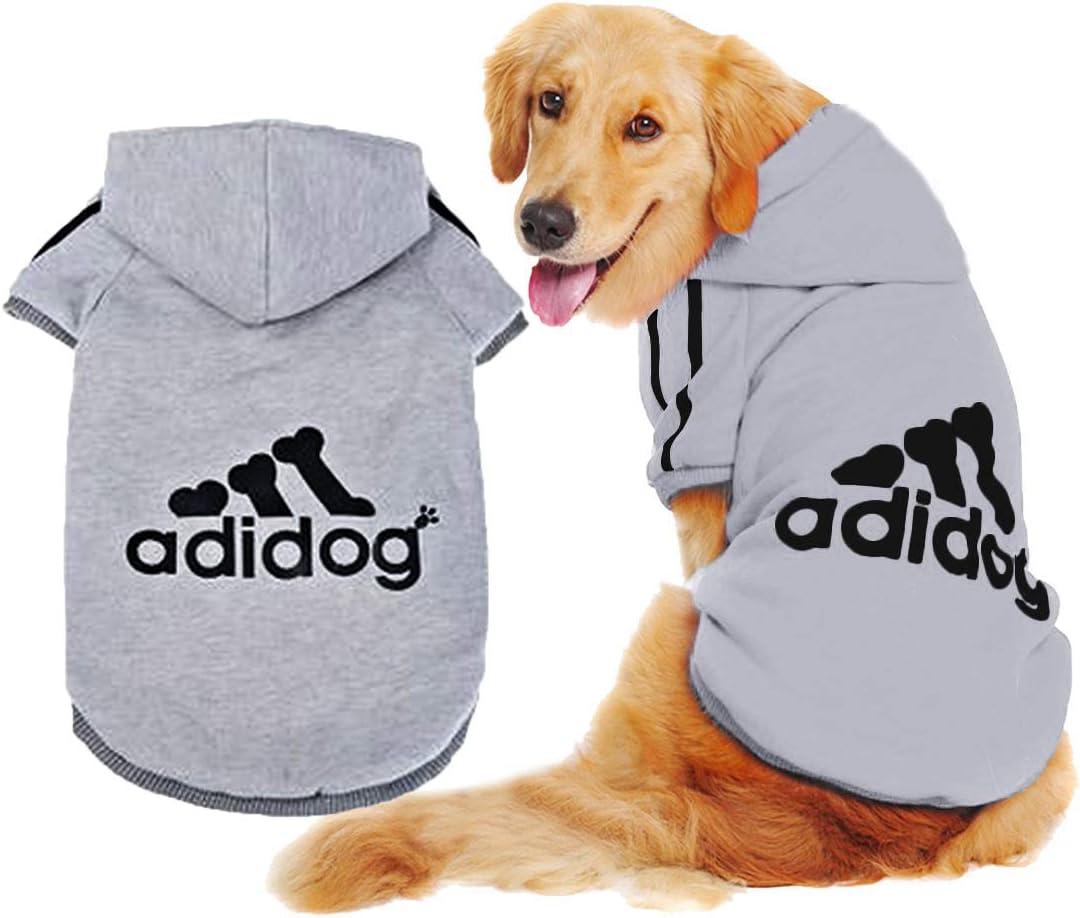 Scheppend Adidog Pet Dog Kleidung Wintermantel Jacket Cat Puppy Hoodie Pullover Baumwolle Kleidung f/ür kleine und mittlere und gro/ßen Hunde