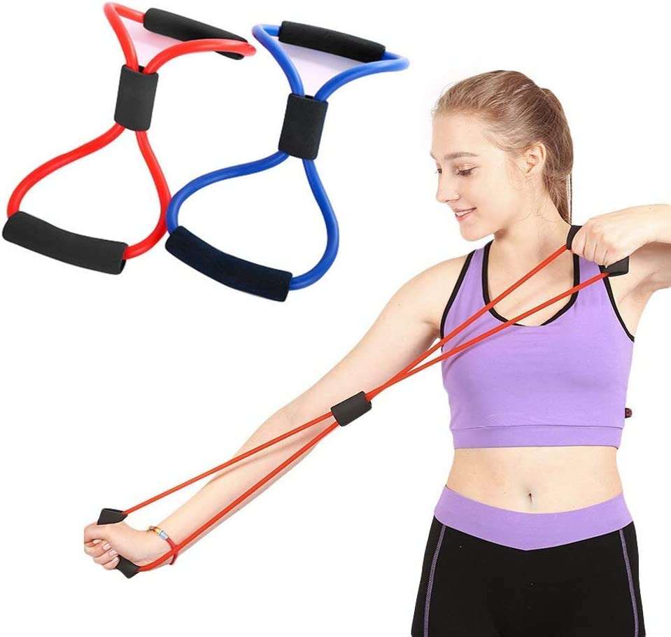 8-Shape Resistance Band Gym Workout Yoga Tube Rope Fitness Equipment