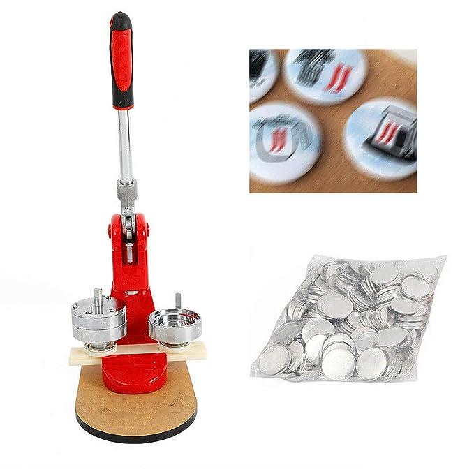Máquina para hacer chapas (58 mm, incluye máquina de dibujar ...
