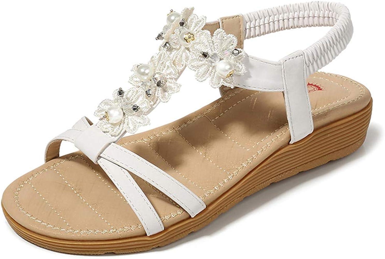 Qingsiy Sandalias Mujer Verano 2019 Zapatos Planas Bohemia Flats ...