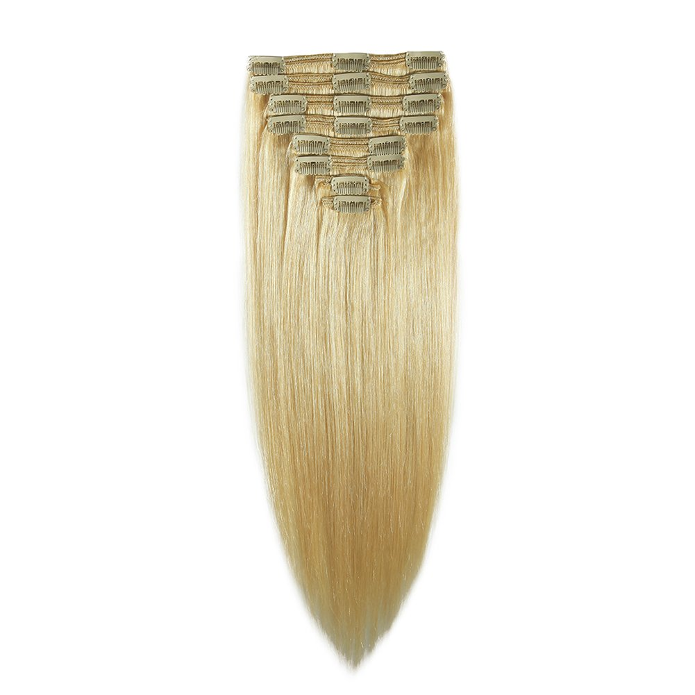 Amazon Double Weft 100 Remy Human Hair Clip In Extensions 14