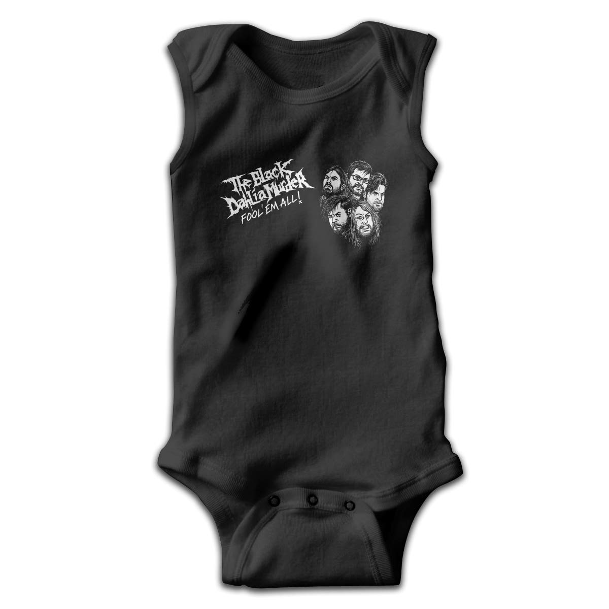 The Black Dahlia Murder Music Band Sleeveless Baby Bodysuit Daily Baby Toddlers Crawling Clothes Gift