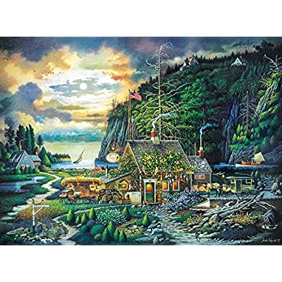 1000 Piece Jigsaw Puzzle Moonlight & Roses: Toys & Games
