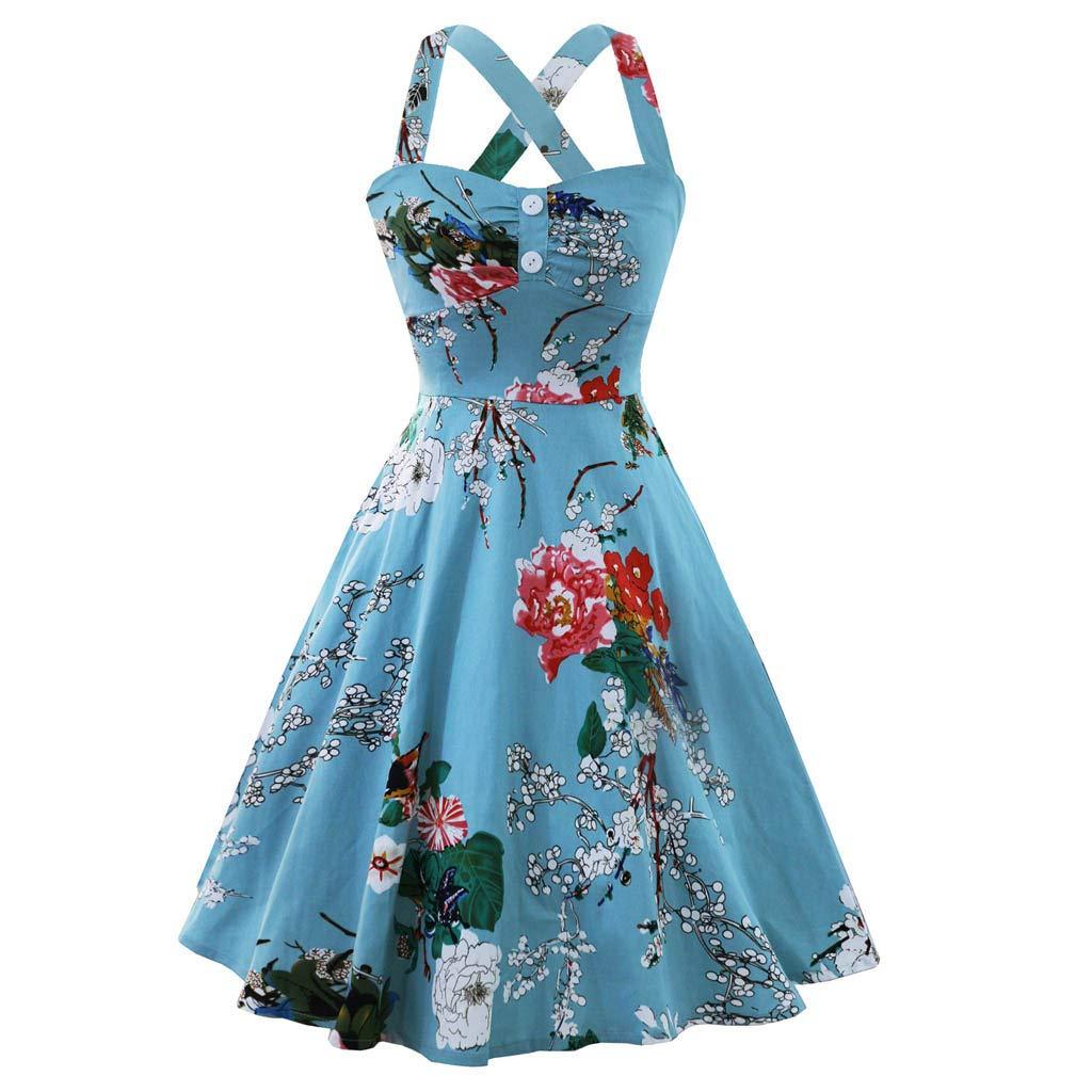 da Ballo Donna Retro Vintage Anni 50 Canotta a Cuore Swing Vestito da Sera