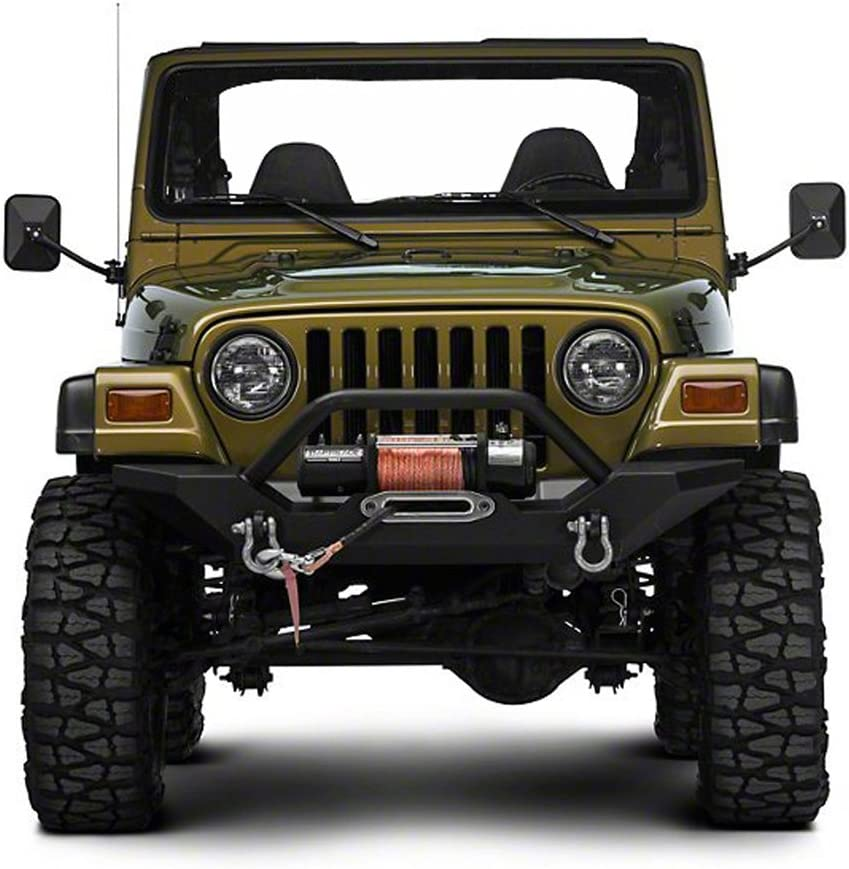 Door Off Mirror for Jeep Wrangler One Pair Rectangular Mirrors fit for 1997~2006 2007~2017 Jeep Wrangler TJ Mirrors For Jeep Textured Black
