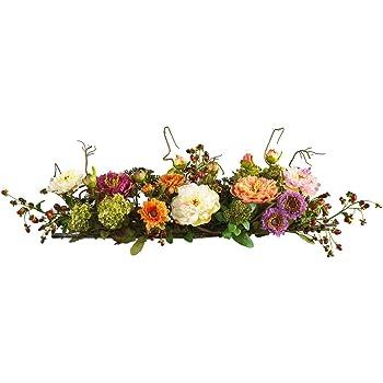 Amazon nearly natural 4665 peony centerpiece silk flower nearly natural 4665 peony centerpiece silk flower arrangement mixed mightylinksfo