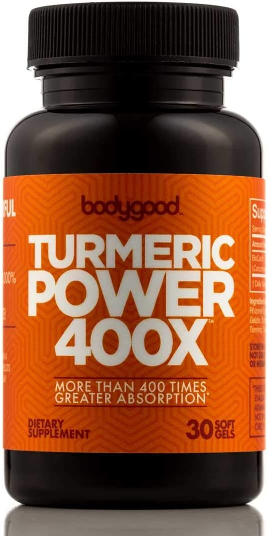 Turmeric Power 400XTM with 400 Times Greater Absorption Than Ordinary Curcumin Turmeric. Patented Pain Relief for Back, Joints. Normalize Inflammation Levels. 3 Bottles