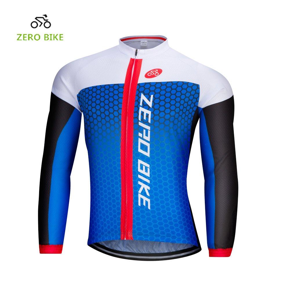 Maglia manica lunga da uomo Cycling Jersey Outdoor Sport Slim Fit Zip Zip traspirante e veloce asciutto Etocars