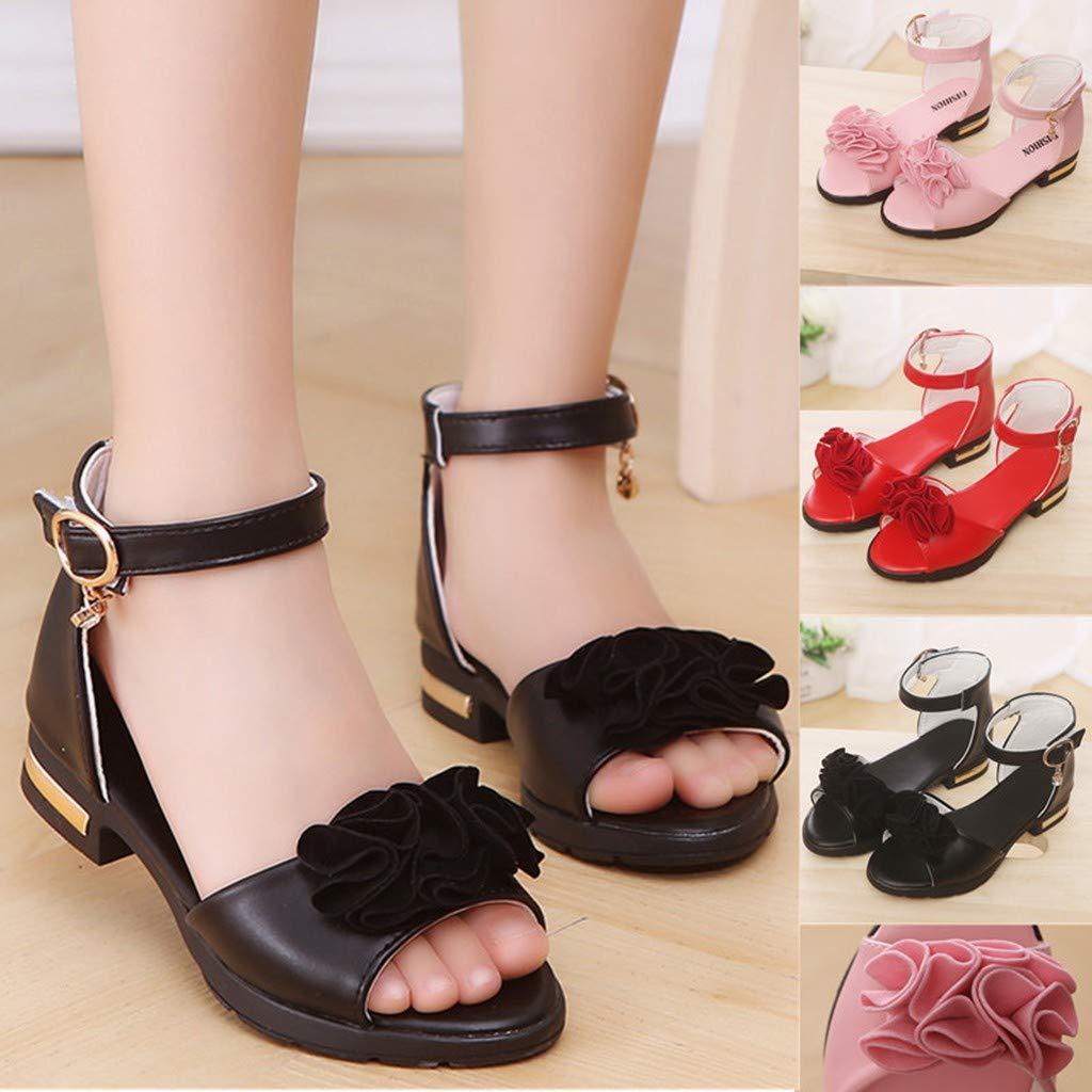 HoSayLike Enfant en Bas /âGe Enfants B/éB/é Filles De Fleurs Fleur Princesse Rom Chaussures Peep Toe Sandales