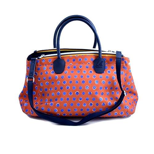 3197989f6f5e K-Way Borsa Spalla Tracolla Donna Bag Woman K-Double Big Handbag -Blu