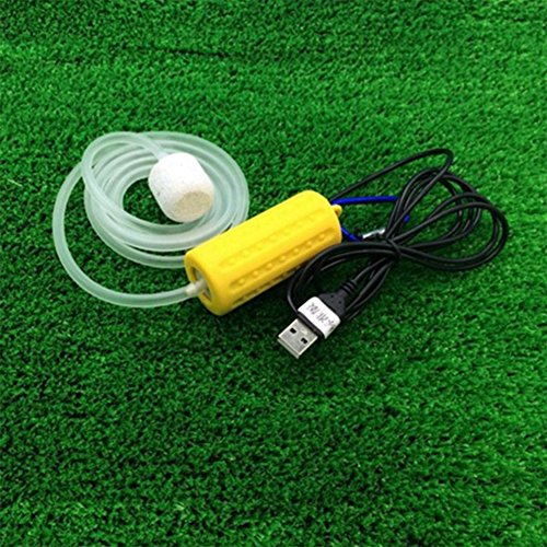 Etbotu Portable Mini USB Aquarium Fish Tank Oxygen Air Pump Mute Energy Saving Supplies - Efficiency Air Compressed