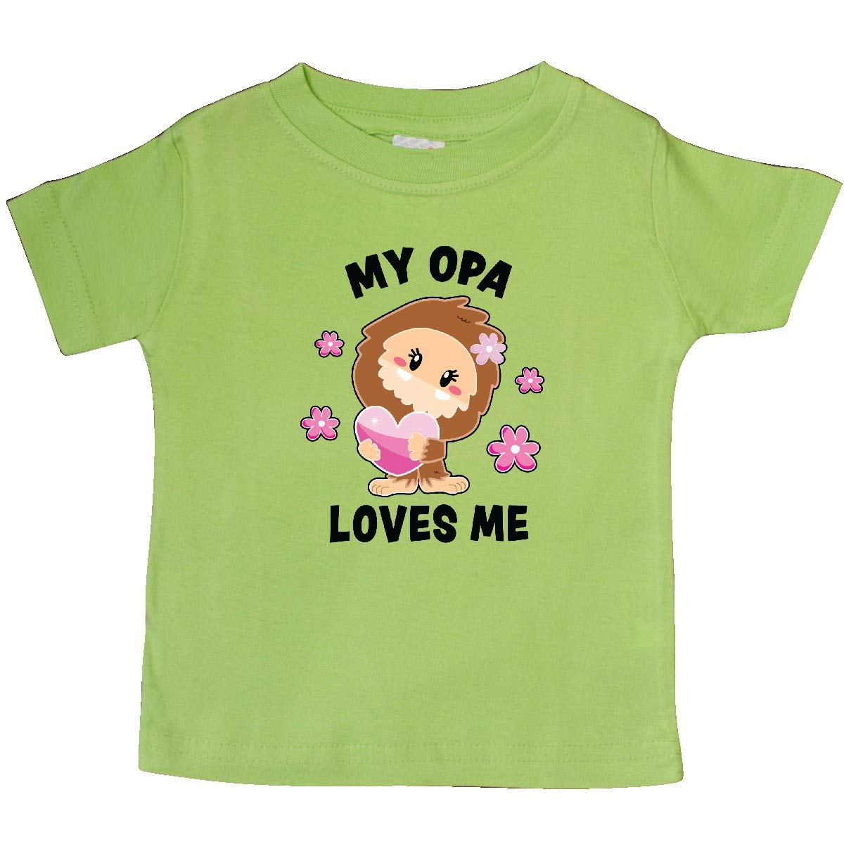 inktastic My Opa Loves Me with Bigfoot Baby T-Shirt