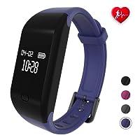 fitpolo Bracciale Fitness, Orologio Fitness Activity Tracker Uomo/Donna,Cardiofrequenzimetro da Polso,Fit Smart Band,Contapassi da Polso,Smartwatch Compatibile con iPhone Android Impermeabile IP67