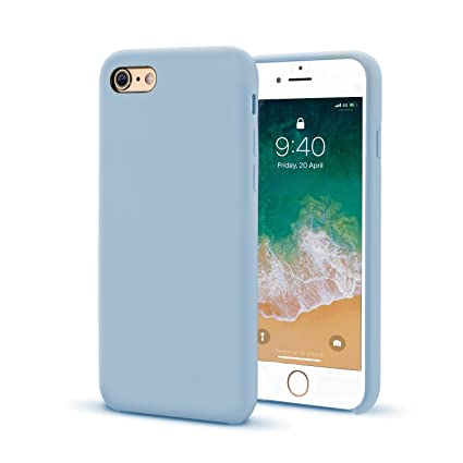 7e4755dcf6bef Keklle iPhone 6 Plus/6s Plus Case, Ultra Thin Liquid Silicone Gel Rubber  Shockproof Case and Slim Soft Touch Microfiber Cloth Lining Cushion for ...