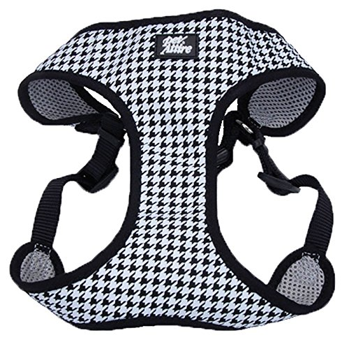 Coastal Pet Attire Black And White XXS wrap harness 5-8 lbs