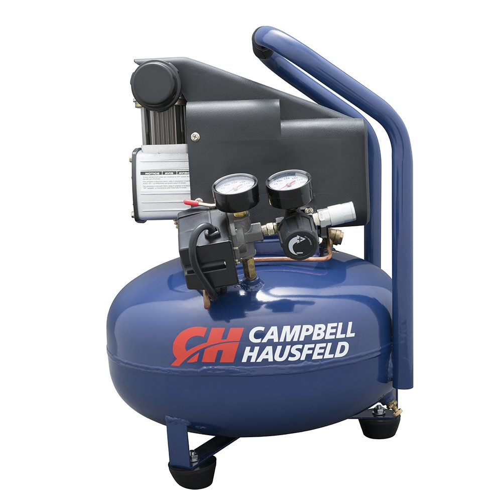 Amazon.com: Campbell Hausfeld Air Compressor, Electric 6-Gallon Pancake Oilless 2.5CFM 0.8HP 120V 7A 1PH (HM750000AV): Home Improvement