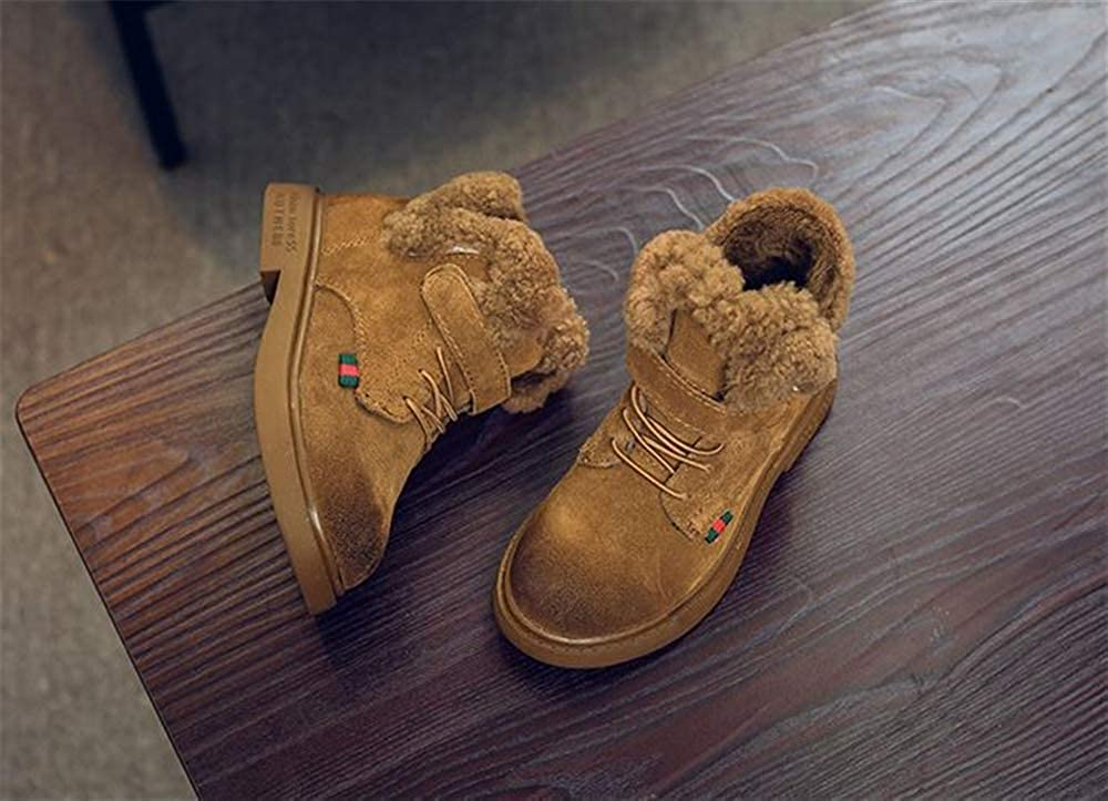 cici shoes Girls and Boys Winter Snow Boots Fur Outdoor Slip-on Boots