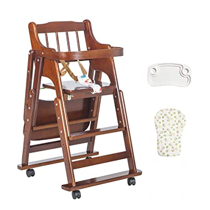 Amazon.com: Wood Baby Highchairs Foldable Childrens Dining ...