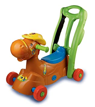 Amazon.com: Vtech 2 en 1 Ride On Rocker: Baby