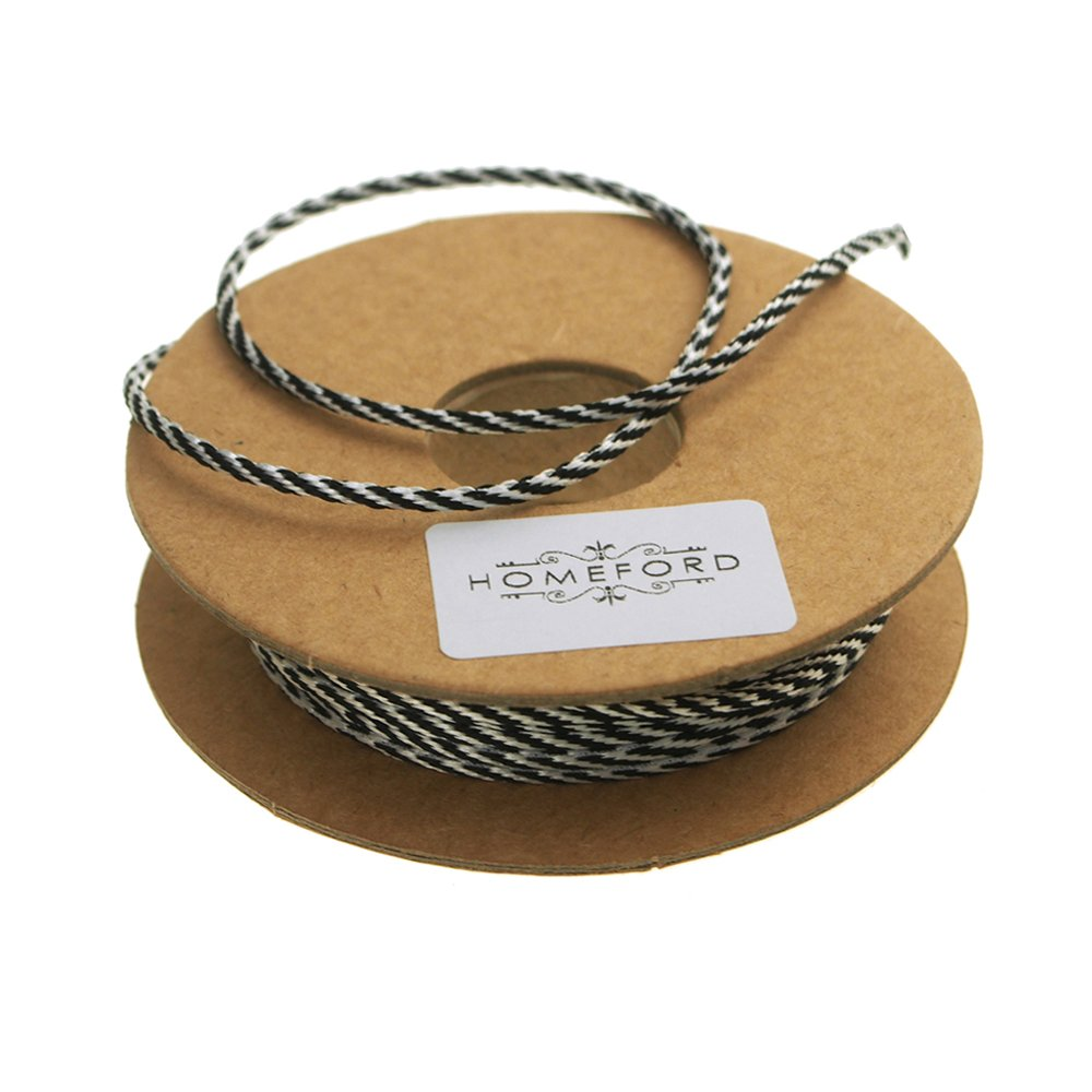 Homeford Bakers Twine Ribbon, Made In England, 10 Ply, 22 Yards (Black)
