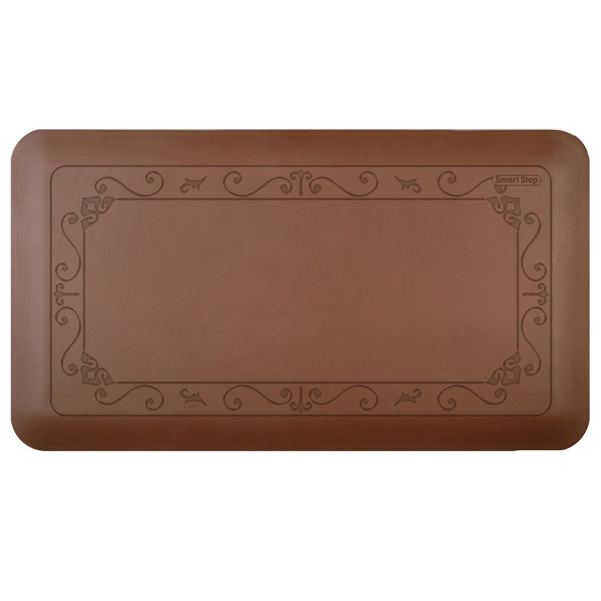 Smart Step Home 36 Inch by 20 Inch Fleur-de-Lys Mat, Brown