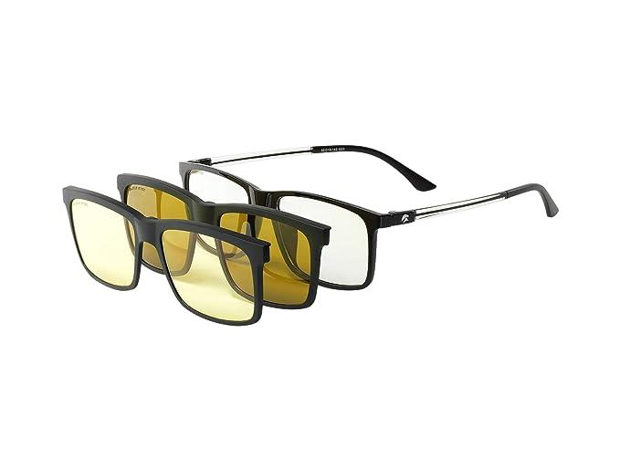 99423192e0 Eagle Eyes 3in1 SuperSight System - Magnetic Clip-on Glasses - Computer  Lens Based Frame