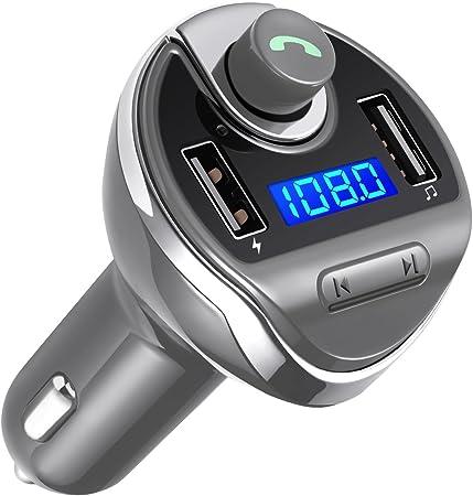 webat sans Fil Bluetooth Multifonction Car Kit Support de t/él/éphone Fonction Mains Libres Chargeur de Voiture pour iPhone Samsung Smartphones Tablettes iPad Transmetteur FM