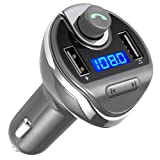 Amazon Price History for:Criacr Bluetooth FM Transmitter, Wireless In-Car FM Transmitter Radio Adapter Car Kit, Universal Car Charger with Dual USB Charging Ports, Hands Free Calling for iPhone, Samsung, etc.(Grey)