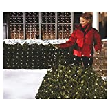 christmas bush lights - Holiday Essentials 150 Net Lights - Clear Bulbs with Green Wire - Indoor / Outdoor Use - UL Listed