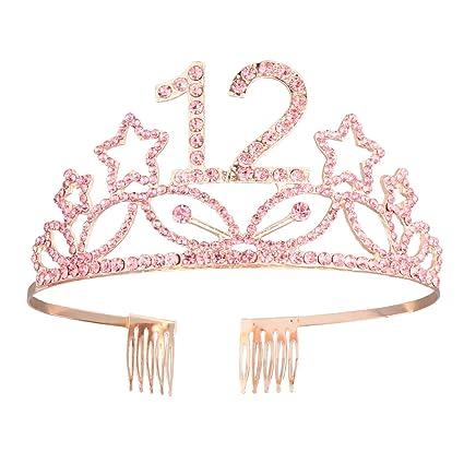 1 unid corona de cumpleaños aleación de diamantes de ...