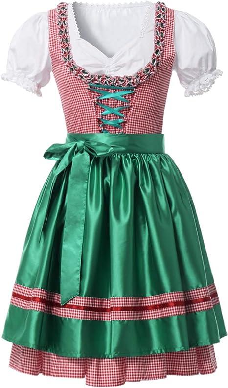 GRACEART Disfraz de Alemana Oktoberfest para Juego 3 Piezas Mujer ...