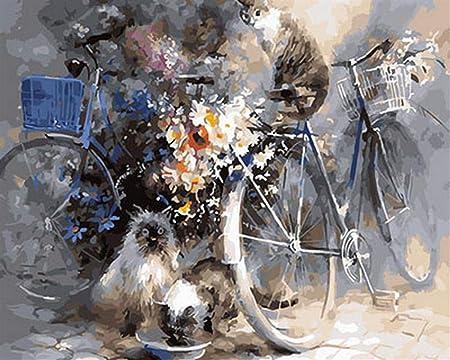 Adultos Madera Puzzle 1000 Piezas Flores Gato Y Bicicleta Niños Juego Clásico Ocio Arte Toys Puzzles: Amazon.es: Hogar