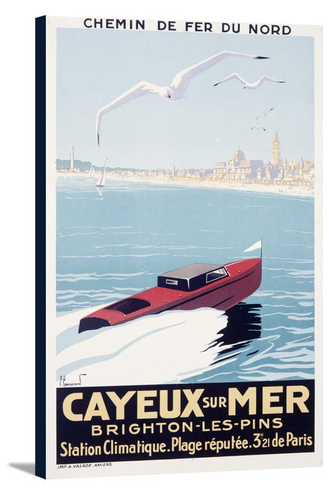 Cayeux sur Mer Vintageポスター(アーティスト: Commarmond ) France 21 5/8 x 36 Gallery Canvas LANT-3P-SC-59383-24x36 B0184ASD0G  21 5/8 x 36 Gallery Canvas