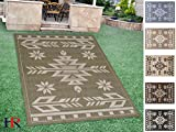 Handcraft Rugs Indoor/Outdoor area Rug with Traditional Southwestern Design Sage Green and Ivory Color. (7 ft. by 10 ft.) Review
