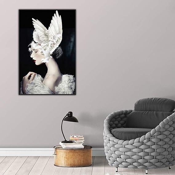 tzxdbh Figura Moderna Lienzo Pintura Decoración del ...