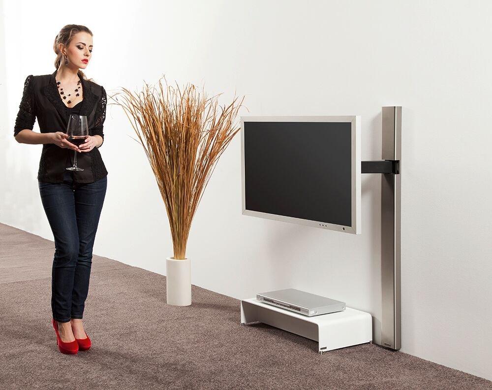Wissmann Raumobjekte Porta Tv Girevole.Wissmann Raumobjekte Design Supporto Per Tv Fino A 39 Con Colonna
