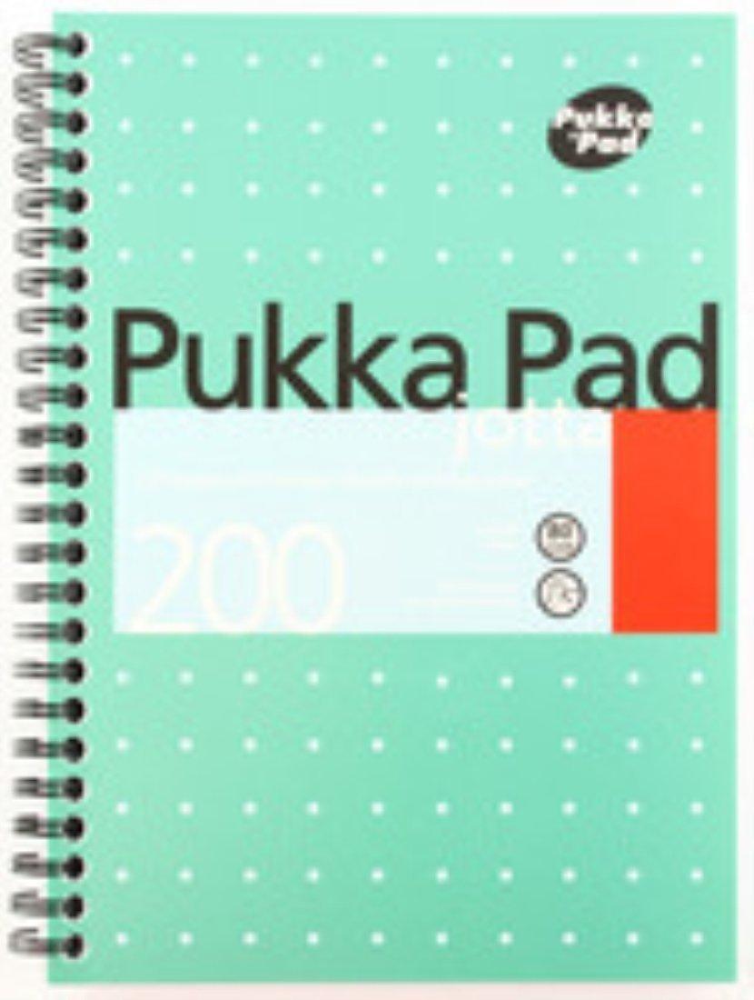 Pukka Pad Cuaderno Encuadernado 80gsm con alambre Jotta 80gsm Encuadernado Rayado 200 Páginas A5   JM021 [Paquete de 3] - DISEÑO 1 0a1fc0