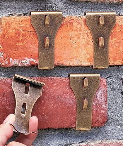 """NEW BRICK CLIP HOOKS FITS BRICK 2-1//8/"""" TO 2-1//2/"""" IN HEIGHT 4-PACK"""