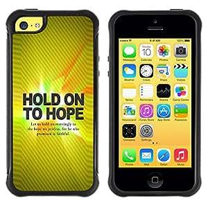 LASTONE PHONE CASE / Suave Silicona Caso Carcasa de Caucho Funda para Apple Iphone 5C / BIBLE Hold On Hope