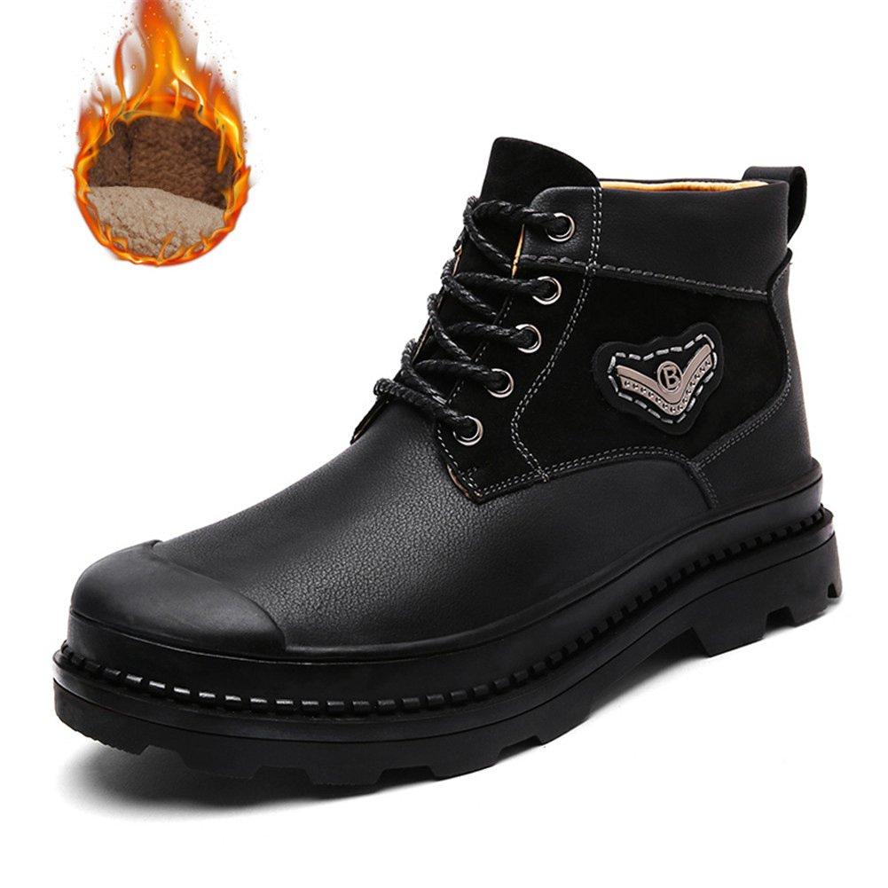 MSKAY MEN SHOES Botines Botas en Piel con Cordones para Hombre: Amazon.es: Zapatos y complementos