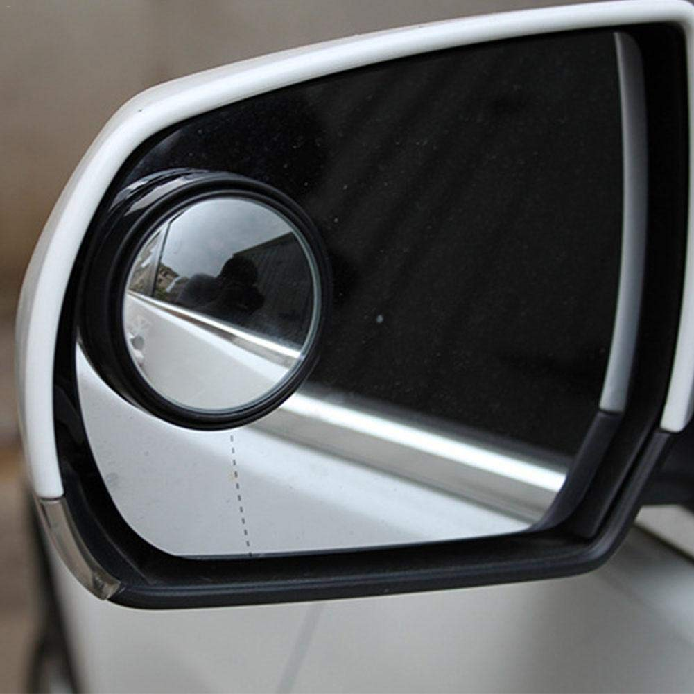 Purefire 2 Piece Automotive Round Mirror Blind Spot Mirror Kit 360 Degree 360/° Rotating Diameter 50MM Blind spot Mirror Car Rear View Mirror